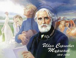 Russia 2018 200th Anniversary Birth Ivan Sergeevich Turgenev Famous People Writer Literature Celebrations S/S Stamp MNH - Celebrations