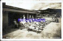 104113 GERMANY SONNENBAD CARE RECREATION HOME AUHOF TÜRNITZ CIRCULATED TO AUSTRIA POSTAL POSTCARD - Deutschland