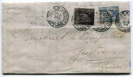 RC 10562 FRANCE 1895 DAGUIN MARSEILLE PL. DE LA PREFECTURE BOUCHES DU RHONE SUR SAGE POUR LA SUISSE - Marcofilia (sobres)