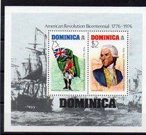 DOMINIQUE  Timbres Neufs ** De 1976  ( Ref 5831 ) Bicentenaire Des Etats Unis - Voir 2 Scans - Dominique (1978-...)