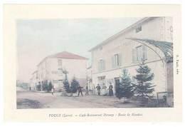 Cpa Vougy - Café Restaurant Pérouze - Route De Naudax ( S. 1965 ) - France