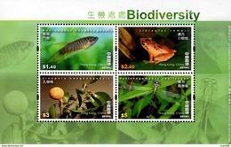 Hong Kong - 2010 - Biodiversity - Mint Souvenir Sheet - 1997-... Región Administrativa Especial De China