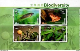 Hong Kong - 2010 - Biodiversity - Mint Souvenir Sheet - 1997-... Région Administrative Chinoise