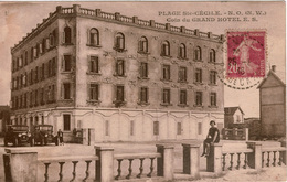 Cpsm 62 PLAGE Ste-CECILE  CAMIERS . N.O (N.W) Coin Du Grand Hôtel E.S , Animée, Automobiles Années 20' Peu Courante + - France