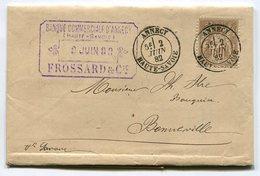 RC 10567 FRANCE 1882 SAGE N° 80 OBL ANNECY HAUTE SAVOIE SUR LETTRE TB - Postmark Collection (Covers)