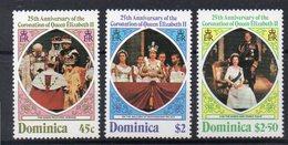 DOMINIQUE  Timbres Neufs ** De 1970 Et 1978  ( Ref 5833 )  Elisabeth II - Ch Dickens-voir 2 Scans - Dominique (1978-...)