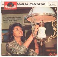 45 TOURS MARIA CANDIDO POLYDOR 20925 LES CLOCHES DE LISBONNE / LE MARCHAND DE BONHEUR + 2 - Vinyl Records