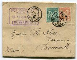 RC 10569 FRANCE 1882 SAGE 5c + 40c OBL ANNECY HAUTE SAVOIE SUR LETTRE TB - Marcofilia (sobres)