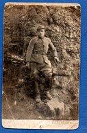 Carte Photo  - Soldat Français --   Abimée - War 1939-45