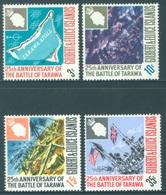 GILBERT ELLICE -  MNH/** - 1968 - BATTLE OF TARAWA - Yv 145-148 -  Lot 18276 - Îles Gilbert Et Ellice (...-1979)