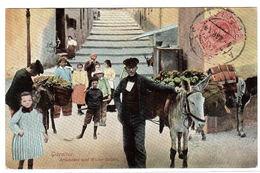 GIBRALTAR - Artichokes And Water Sellers - Carte Colorisée / Colored Card - Ed. V. B. Cumbo, Gibraltar - Gibraltar