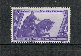 ITALY 1932 Decennale Marcia Su Roma MH 50 Cent Sassone 332 - 1900-44 Victor Emmanuel III