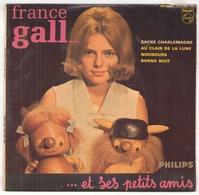 45 TOURS FRANCE GALL PHILIPS 434962 SACRE CHARLEMAGNE / AU CLAIR DE LA LUNE / NOUNOURS / BONNE NUIT - Vinyl Records
