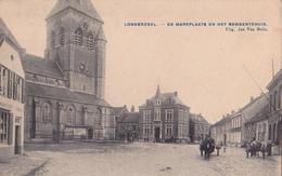 Londerzeel: Marktplaats En Gemeentehuis. (attelage, 1908) - Londerzeel