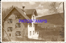 104128 AUSTRIA MONDSEE VIEW HOUSE CIRCULATED TO ARGENTINA POSTAL POSTCARD - Autriche