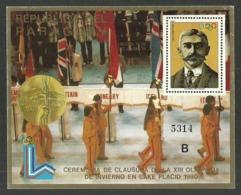 PARAGUAY 1980 OLYMPICS LAKE PLACID CEREMONY COUBERTIN M/SHEET MNH - Paraguay