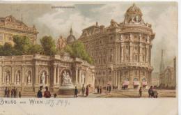 AK 0089  Gruss Aus Wien ( Albrechtsbrunnen ) - Künstlerkarte Um 1909 - Wien Mitte