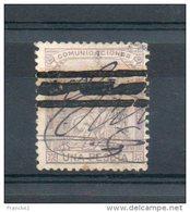 Espagne.  Una Peseta. 3 Bandes. Oblitéré à La Main - 1868-70 Provisional Government