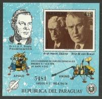 PARAGUAY 1976 SPACE VON BRAUN M/SHEET MNH - Paraguay