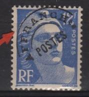 Variété Du N° 812 12f Gandon Outremer Lettres AFFRANC De La Surcharge  Partiellement Effacées - Errors & Oddities