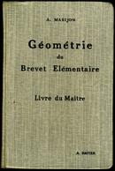 GEOMETRIE Du Brevet Elémentaire 1932 - 12-18 Ans
