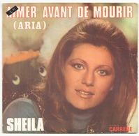 45 TOURS SHEILA CARRERE 49113 AIMER AVANT DE MOURIR - Vinyl Records