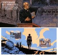 BLOC SOUVENIR CENTENAIRE DE L'ARMISTICE: GEORGES CLEMENCEAU 11 NOVEMBRE 1918** Voir Scan Très Beau - Souvenir Blocks