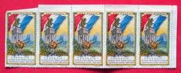 Ww1 - 5 Timbres Propagande Pro Patria N'achetez Aucun Produit Allemand Rappelez-vous 1914-15 éditeur Imp Gal Clermont - Guerre 1914-18