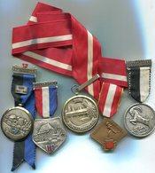 M042 LOT DE 5 MEDAILLES SUISSE MEDALS SWITZERLAND LENZBURG UEBERSTROF HUNZIKENBRUKE MUNZINGEN INTERLAKNER - Médailles & Décorations