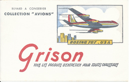 BUVARD - Produits D'Entretien GRISON - Avion Boeing 707 - Chaussures
