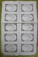 Belle Planche Complète De 10 Assignats De Cinq Livres émission Du 10 Brumaire An II : 31 Octobre 1793 Cf Lafaurie N°171 - Assignats & Mandats Territoriaux