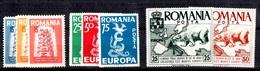 Europa émissions De Propagande Roumanie Maury N° 1/3, N° 7/8, N° 9/11 Neufs ** MNH. TB. A Saisir! - Europa-CEPT