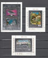 Eq Guinea 1974,3 Blocks,SILVER,centenario De La UPU 1874-1974,Union Postale Universelle,MNH/Postfris(L3361) - UPU (Universal Postal Union)