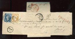 Bande Journal En Chargé De Paris / Paris En 1860 - N326 - Marcophilie (Lettres)