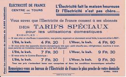 BUVARD - Electricité De France, Centre De Tours (37) - Electricity & Gas