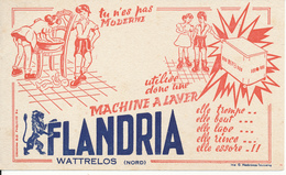 BUVARD - Machine à Laver Flandria, Wattrelos - Buvards, Protège-cahiers Illustrés