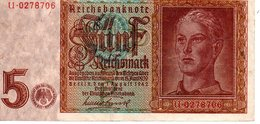 5 Reichmark 1942 - [ 4] 1933-1945 : Troisième Reich