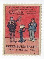 Timbre Vignette Publicitaire Écrémeuse Baltic 1923 Rue Des Mathurins Paris 8 Publicité Agriculture Poule Au Pot - Erinnophilie