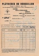 1929 - AMÉLIE-les-BAINS- PLÂTRIÈRES DU ROUSSILLON - Historical Documents