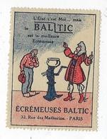Timbre Vignette Publicitaire Écrémeuse Baltic 1923 Rue Des Mathurins Paris 8 Publicité Agriculture - Cinderellas
