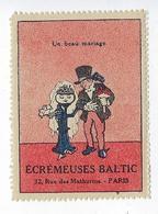 Timbre Vignette Publicitaire Écrémeuse Baltic 1923 Rue Des Mathurins Paris 8 Publicité Agriculture - Vignetten (Erinnophilie)
