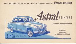 BUVARD - Peinture Astral, Automobile Simca - Peintures