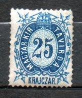 HONGRIE Télégraphe  25kr Bleu 1873 N°4 - Télégraphes