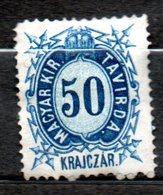 HONGRIE Télégraphe  50kr Bleu 1873 N°6 - Télégraphes