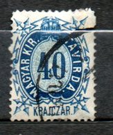HONGRIE Télégraphe  40kr Bleu 1873 N°5 - Télégraphes