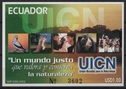 Ecuador (2002) Yv. Bf. 114  /  Fauna Protection - Birds - UICN - Nature - Organisaties
