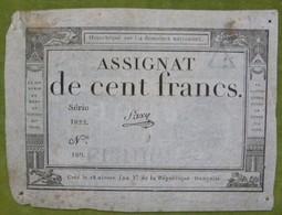 Assignat Cent Francs émission Du 18 Nivose, An III (7 Janvier 1795) Cf Lafaurie N°173 Signé SAXY - Assignats & Mandats Territoriaux