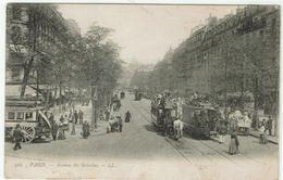 CPA - 75 -  PARIS -  Avenue Des GOBELINS - Tramways - - Arrondissement: 13