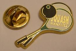 RENAULT Raquettes De SQUASH Version Vert ARTHUS BERTRAND Pin Pin's Pins - Arthus Bertrand
