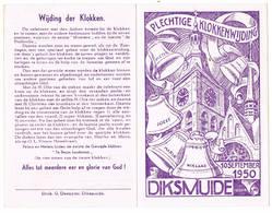 Diksmuide, 10.09.1950: Plechtige Klokkenwijding (2 Scans) - Images Religieuses